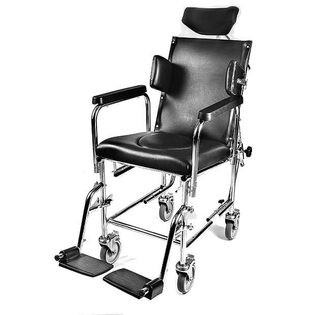 כיסא שירותים ורחצה עם גב הטייה, רקליין